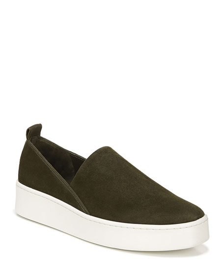 Vince Saxon2 Suede Slip-on Sneakers