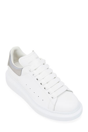 Alexander McQueen Oversize Leather Lace-Up Platform Sneakers