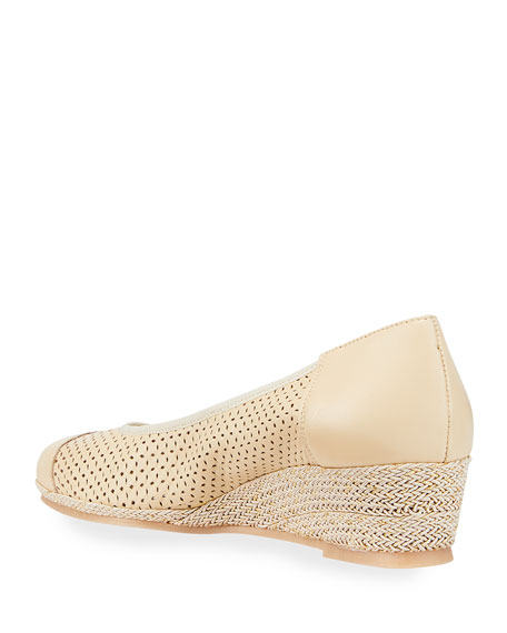 Image 3 of 3: Sesto Meucci Marcus Cap-Toe Wedge Sandals