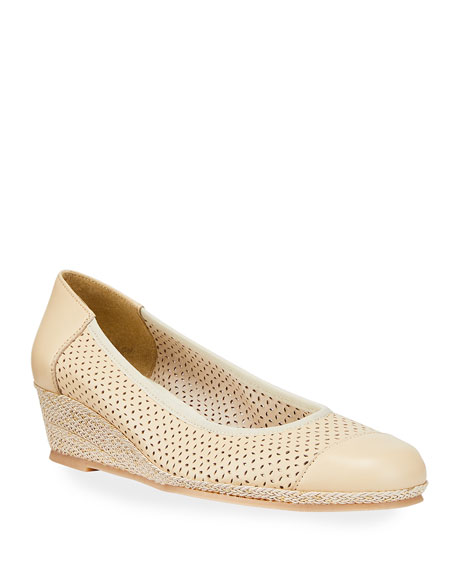 Image 1 of 3: Sesto Meucci Marcus Cap-Toe Wedge Sandals