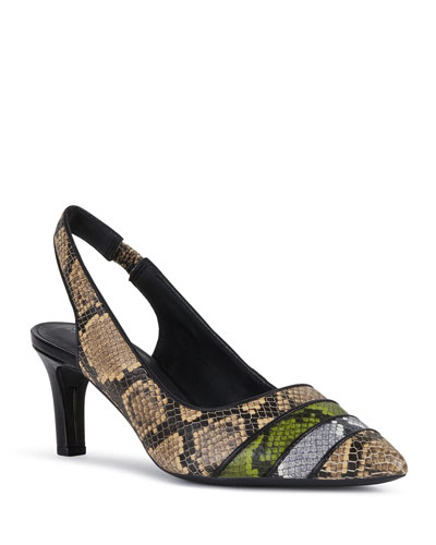 Bibbiana Multicolored Python-Pint Sandals