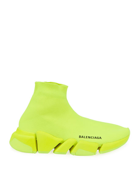 Image 2 of 4: Balenciaga Speed Lt. 20 Fluorescent Knit Sock Sneakers
