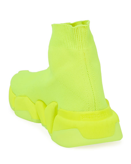 Image 4 of 4: Balenciaga Speed Lt. 20 Fluorescent Knit Sock Sneakers