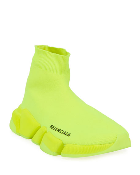 Image 1 of 4: Balenciaga Speed Lt. 20 Fluorescent Knit Sock Sneakers