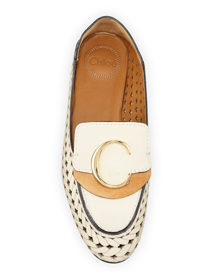 Image 3 of 4: Woven C Medallion Flat Loafers