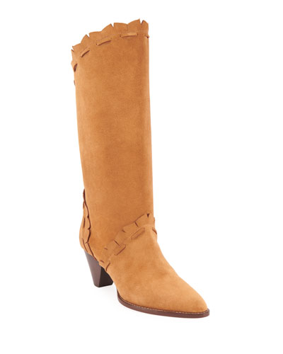 Leesta Topstitch Cone-Heel Boots