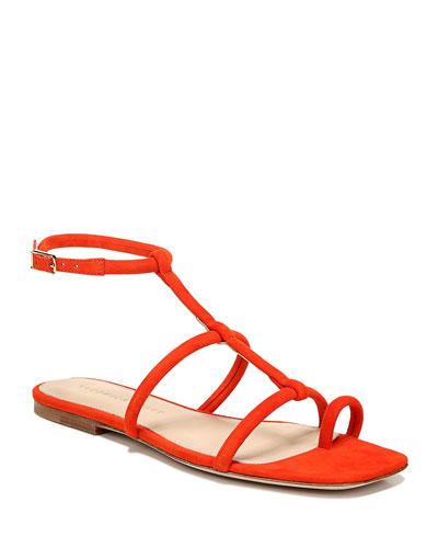 Mayuri T-Strap Flat Sandals
