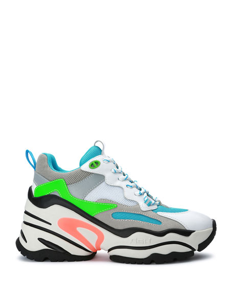 Image 2 of 4: Blast Colorblock Neon Fashion Sneakers