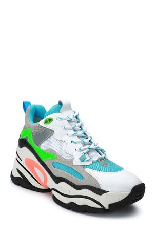 Ash Blast Colorblock Neon Fashion Sneakers