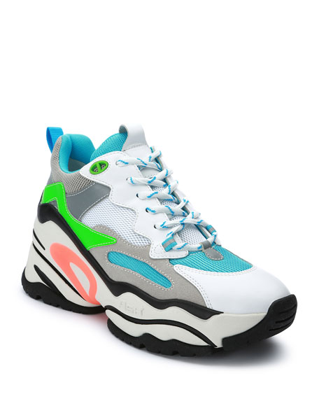 Image 1 of 4: Blast Colorblock Neon Fashion Sneakers