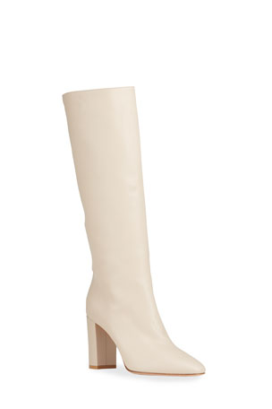 Gianvito Rossi 85mm Leather Knee Boots