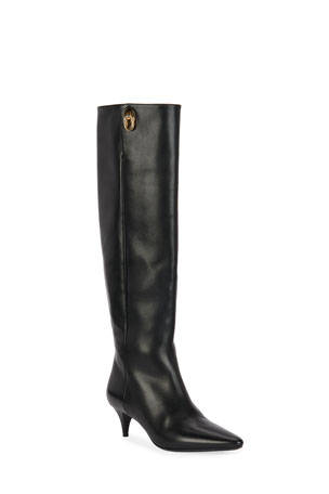 TOM FORD Kitten-Heel Knee Boots
