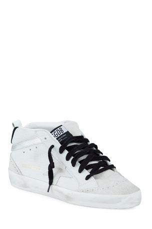 Golden Goose Midstar Croco High-Top Court Sneakers