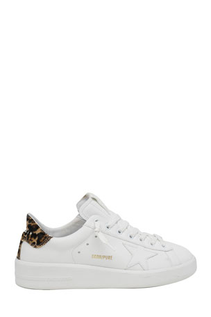 Golden Goose Pure Star Classic Leopard-Print Sneakers