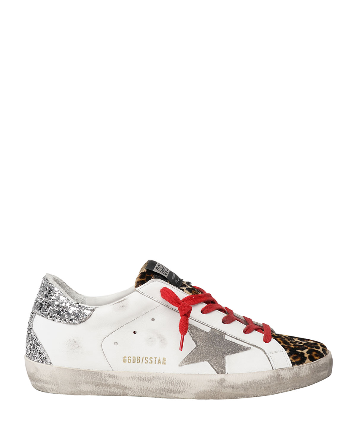 Golden Goose Superstar Leopard-Print Court Sneakers