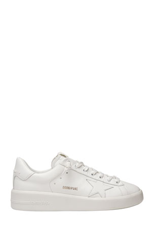 Golden Goose Pure Star Classic White Sneakers