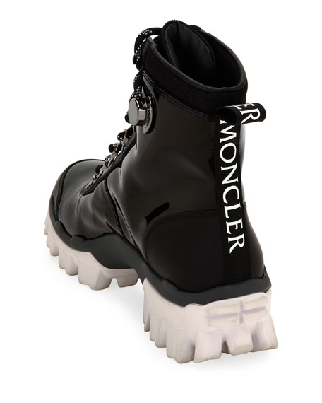 Moncler Helis Stivale Leather Lace-Up Boots