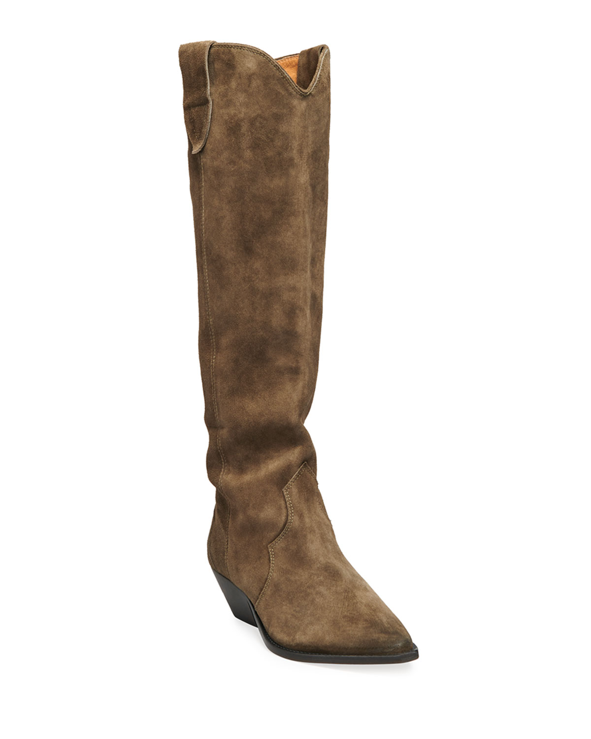 Isabel Marant Denvee Suede Tall Western Boots