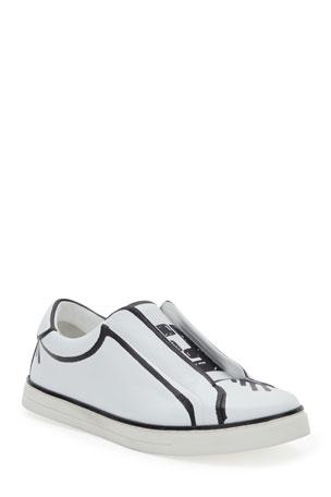 Fendi Logo Low-Top Skater Sneakers