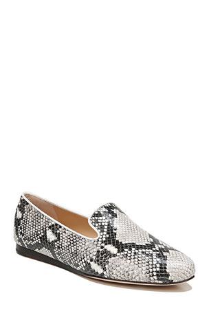 Veronica Beard Griffin Kidima Snake-Print Loafers