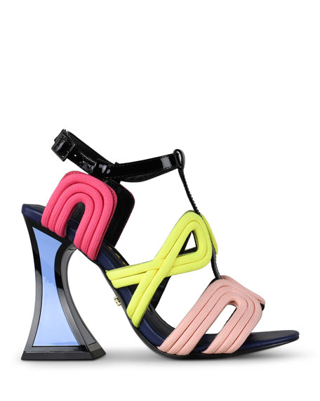 Image 2 of 3: Sissy Multicolored T-Strap Sandals