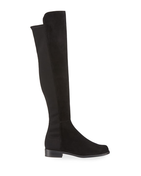 Image 2 of 3: 5050 Suede & Gabardine Over-the-Knee Boots