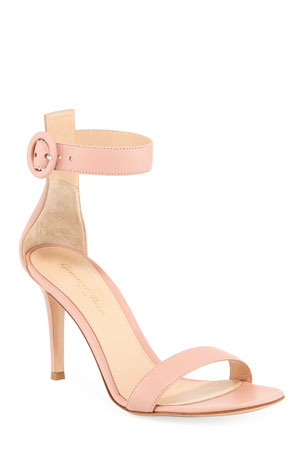 Gianvito Rossi Portofino Napa Ankle-Strap 85mm Sandals