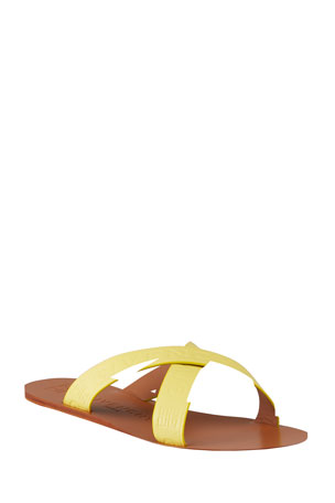 Givenchy Crisscross Logo Flat Sandals