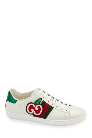 Gucci New Ace GG Apple Leather Sneakers