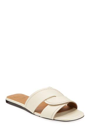 Chloe Candice Flat Twist Slide Sandals