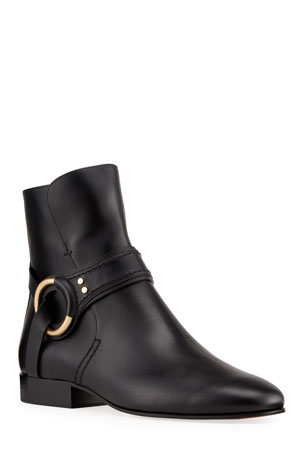 Chloe Demi Ankle Zip Biker Booties