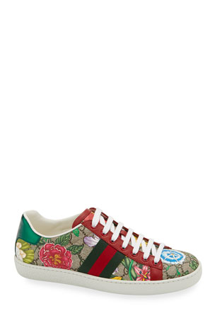 Gucci New Ace Flora Canvas Sneakers $680.00