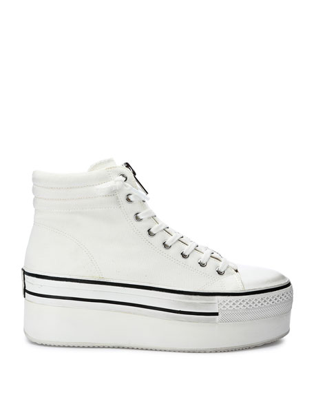 Image 2 of 4: Ash Jagger Canvas Platform Zip Sneakers