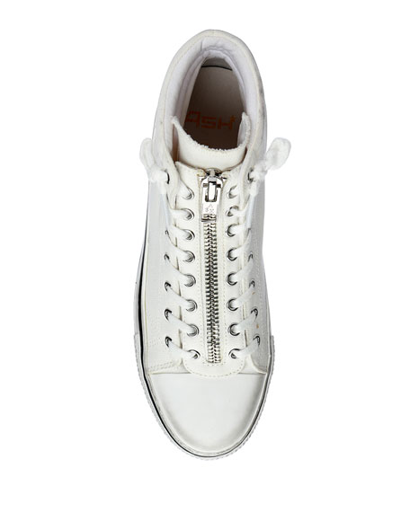 Image 3 of 4: Ash Jagger Canvas Platform Zip Sneakers