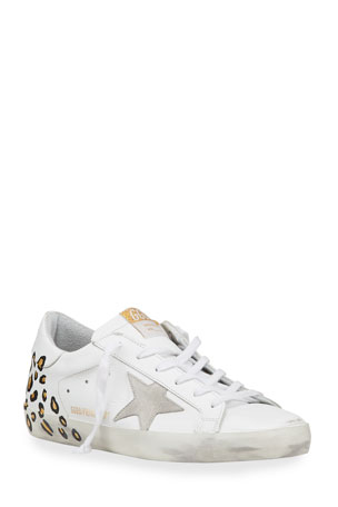 Golden Goose Superstar Hand-Painted Leopard Leather Sneakers