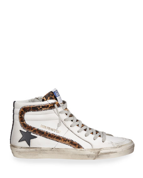 Image 2 of 4: Golden Goose Slide High-Top Zip Sneakers