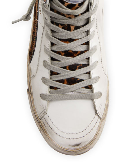 Image 3 of 4: Golden Goose Slide High-Top Zip Sneakers