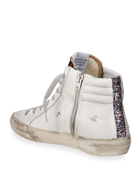 Image 4 of 4: Golden Goose Slide High-Top Zip Sneakers