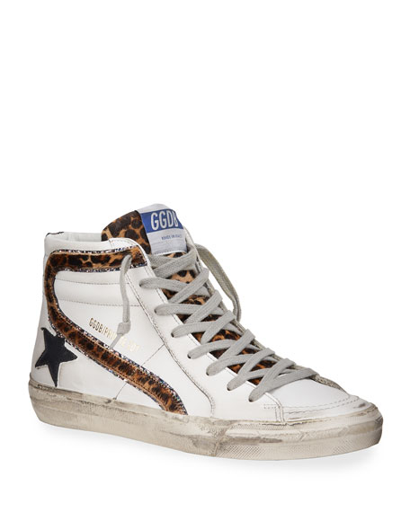 Image 1 of 4: Golden Goose Slide High-Top Zip Sneakers