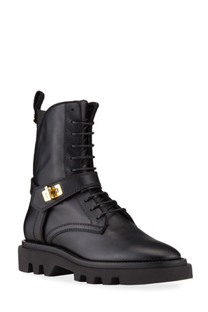 Givenchy Eden Turn-Lock Combat Boots