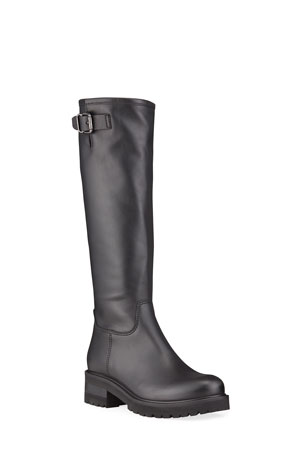 La Canadienne Carey Leather Knee Biker Waterproof Boots