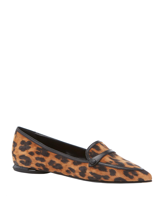 Marion Parke Natalie Leopard-Print Flat