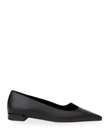 Image 2 of 4: Lafayette 148 New York Mica Mix-Leather Asymmetric Pointed Flats