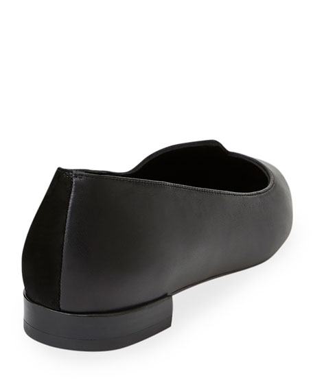 Image 3 of 4: Lafayette 148 New York Mica Mix-Leather Asymmetric Pointed Flats