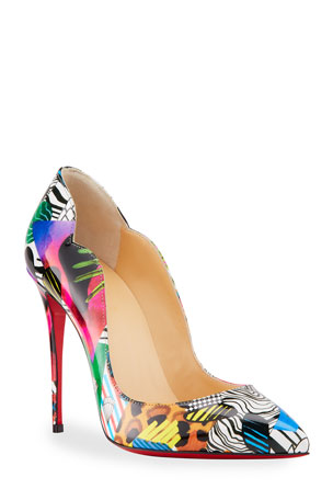 Christian Louboutin Hot Chick 100mm Multi Pattern Red Sole Pumps