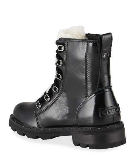 Image 4 of 4: Sorel Lennox Patent Winter Combat Booties