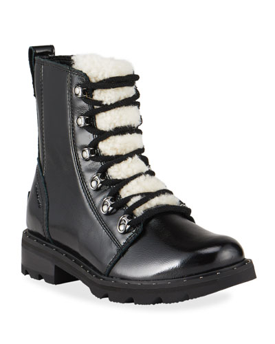 Sorel Lennox Patent Winter Combat Booties