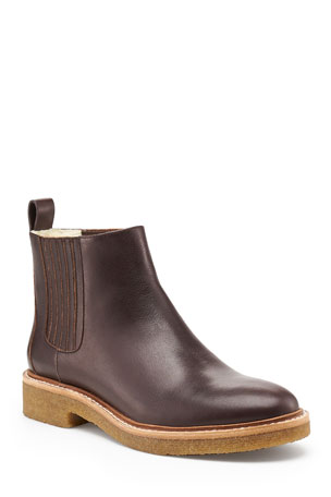 Botkier Leather Everyday Chelsea Booties, Mocha