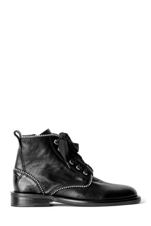 Zadig & Voltaire Laureen Roma Studded Leather Ankle Boots