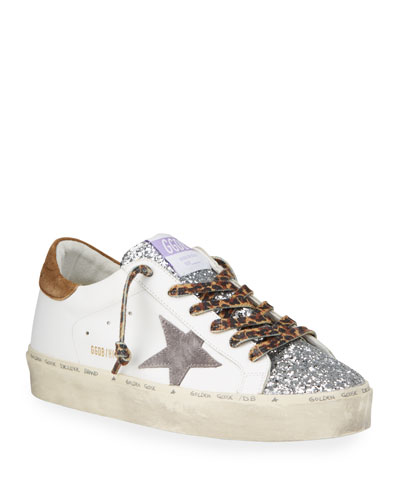 Golden Goose Hi-Star Mix-Media Low-Top Sneakers